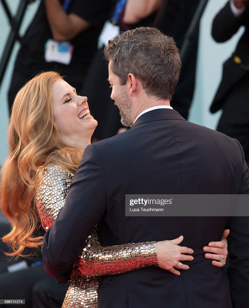 Amy Adams and Darren Le Gallo attend the premiere of 'Nocturnal Animals' during the 73rd Venice Film Festival at Sala Grande on September 2, 2016 in Venice, Italy.