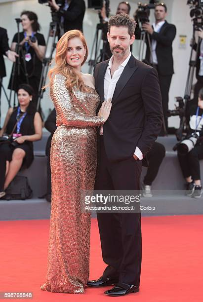 Amy Adams and Darren Le Gallo attend the premiere of Nocturnal Animals during the 73rd Venice Film Festival on September 2 2016 in Venice Italy