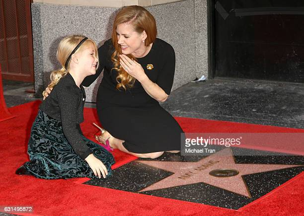 Amy Adams and her daughter Aviana Olea Le Gallo attend the ceremony honoring Amy Adams with a Star on The Hollywood Walk of Fame held on January 11...