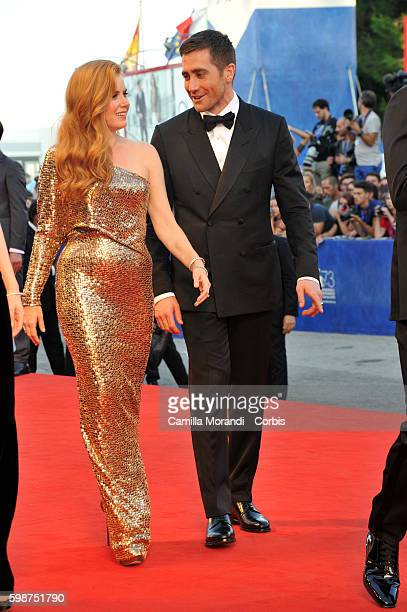 Amy Adams and Jake Gyllenhaal attend 'Nocturnal Animals' Premiere during the 73rd Venice Film Festival at on September 2 2016 in Venice Italy