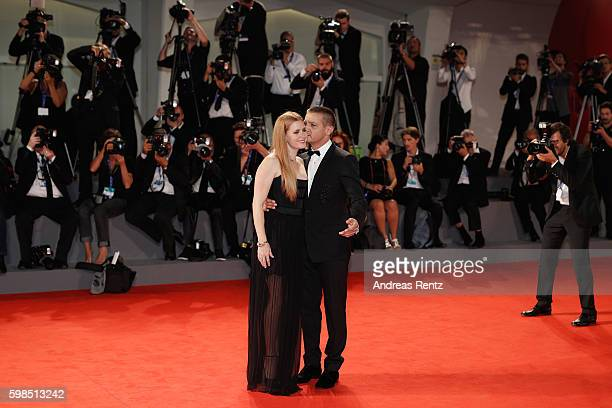 Amy Adams and Jeremy Renner attend the premiere of 'Arrival' during the 73rd Venice Film Festival at Sala Grande on September 1 2016 in Venice Italy