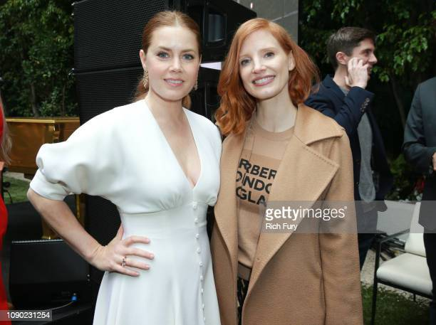 Amy Adams and Jessica Chastain attend the 6th Annual Gold Meets Golden at The House on Sunset on January 05 2019 in Beverly Hills California