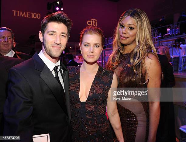 Amy Adams and Laverne Cox attend the TIME 100 Gala TIME's 100 most influential people in the world at Jazz at Lincoln Center on April 29 2014 in New...