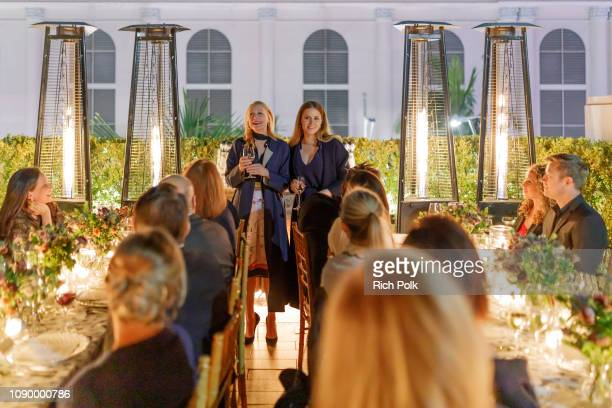 Amy Adams and Patricia Clarkson are honored at an intimate dinner hosted by Tory Burch and Clase Azul at Tory Burch on January 4 2019 in Beverly...