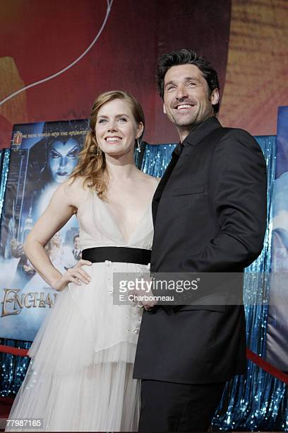 Amy Adams and Patrick Dempsey at the World Premiere of Walt Disney Pictures' ENCHANTED at the El Capitan Theatre on November 17 2007 in Hollywood CA