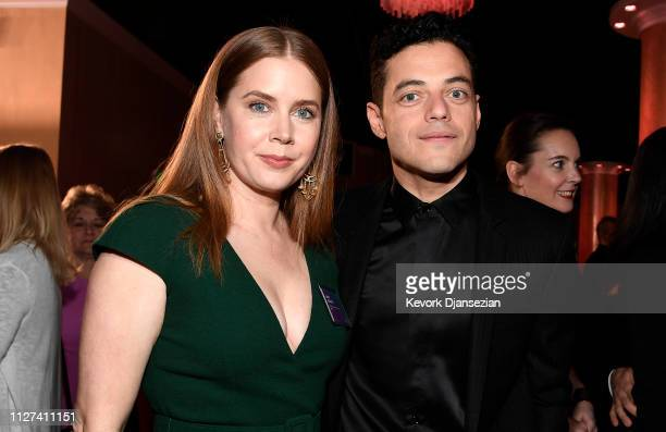 Amy Adams and Rami Malek attend the 91st Oscars Nominees Luncheon at The Beverly Hilton Hotel on February 04 2019 in Beverly Hills California