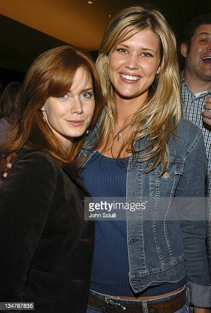 Amy Adams and Sarah Lancaster during The Moguls Cast and Crew Screening at Writer's Guild Theatre in Los Angeles CA United States