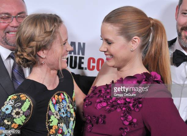 Amy Adams and sister Anna arrive at the 31st Annual American Cinematheque Awards Gala at The Beverly Hilton Hotel on November 10 2017 in Beverly...