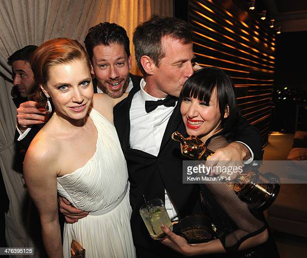 Amy Adams and Spike Jonze attend the 2014 Vanity Fair Oscar Party Hosted By Graydon Carter on March 2 2014 in West Hollywood California
