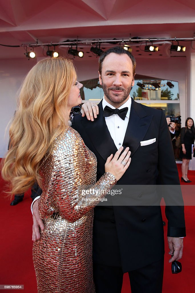 Amy Adams and Tom Ford attend the premiere of 'Nocturnal Animals' during the 73rd Venice Film Festival at Sala Grande on September 2, 2016 in Venice, Italy.