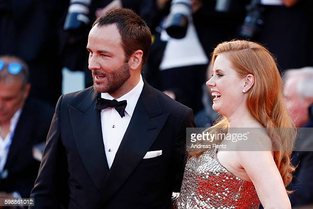 Amy Adams and Tom Ford attend the premiere of 'Nocturnal Animals' during the 73rd Venice Film Festival at Sala Grande on September 2 2016 in Venice...
