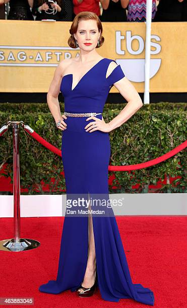 Amy Adams arrives at the 20th Annual Screen Actors Guild Awards at the Shrine Auditorium on January 18 2014 in Los Angeles California