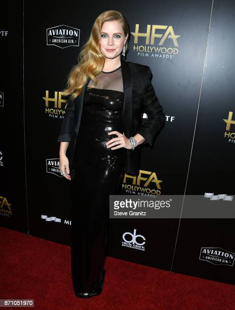 Amy Adams arrives at the 21st Annual Hollywood Film Awards at The Beverly Hilton Hotel on November 5 2017 in Beverly Hills California