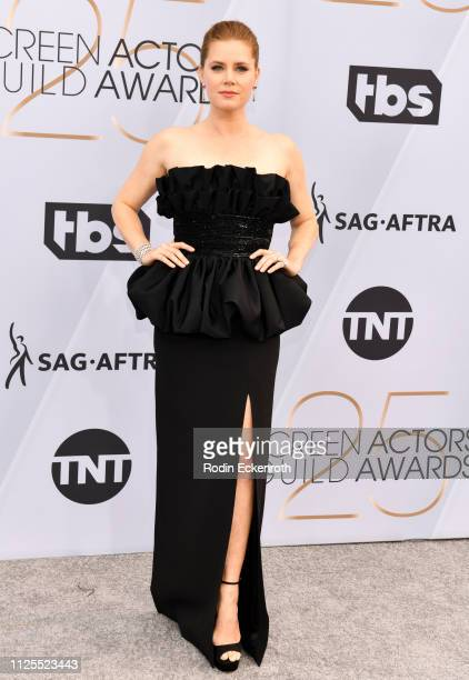 Amy Adams arrives at the 25th Annual Screen Actors Guild Awards at The Shrine Auditorium on January 27 2019 in Los Angeles California