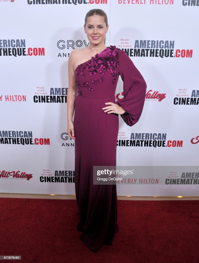 Amy Adams arrives at the 31st Annual American Cinematheque Awards Gala at The Beverly Hilton Hotel on November 10, 2017 in Beverly Hills, California.