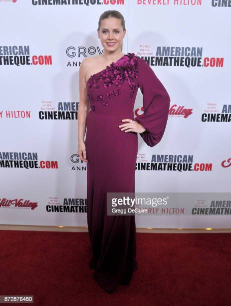 Amy Adams arrives at the 31st Annual American Cinematheque Awards Gala at The Beverly Hilton Hotel on November 10 2017 in Beverly Hills California