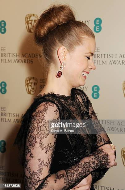 Amy Adams arrives at the EE British Academy Film Awards at the Royal Opera House on February 10 2013 in London England