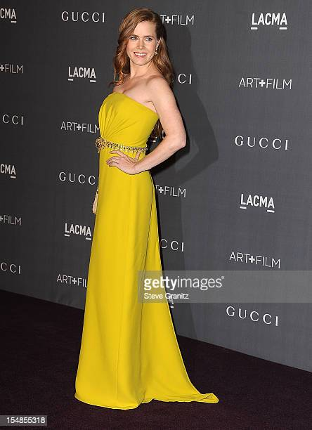 Amy Adams arrives at the LACMA Art Gala at LACMA on October 27 2012 in Los Angeles California