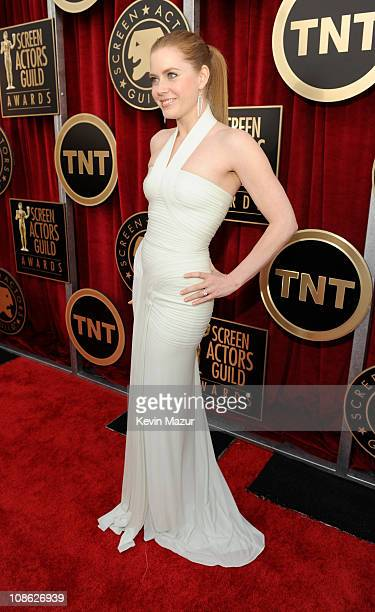 Amy Adams arrives at the TNT/TBS broadcast of the 17th Annual Screen Actors Guild Awards held at The Shrine Auditorium on January 30 2011 in Los...