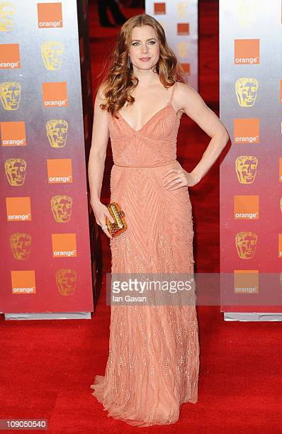 Amy Adams arrives for the Orange British Academy Film Awards at The Royal Opera House on February 13 2011 in London England