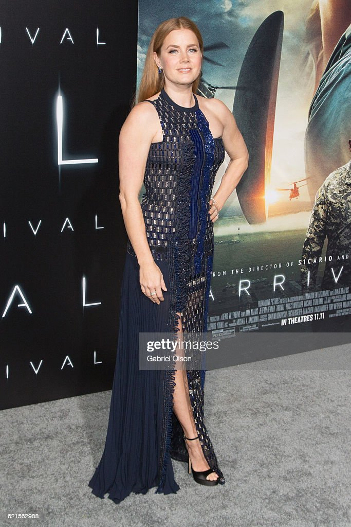 Amy Adams arrives for the Premiere Of Paramount Pictures' 'Arrival' at Regency Village Theatre on November 6, 2016 in Westwood, California.