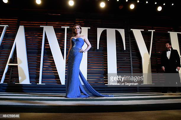 Amy Adams attends 2015 Vanity Fair Oscar Party Hosted By Graydon Carter at Wallis Annenberg Center for the Performing Arts on February 22, 2015 in...