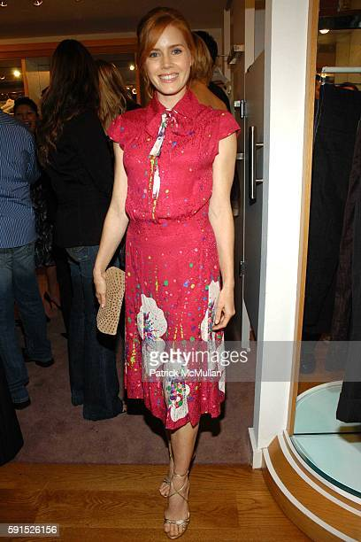 Amy Adams attends Lucky Magazine and Ron Herman host a cocktail party and trunk show for Miss DavenporteInside at Fred Segal on November 17 2005 in...