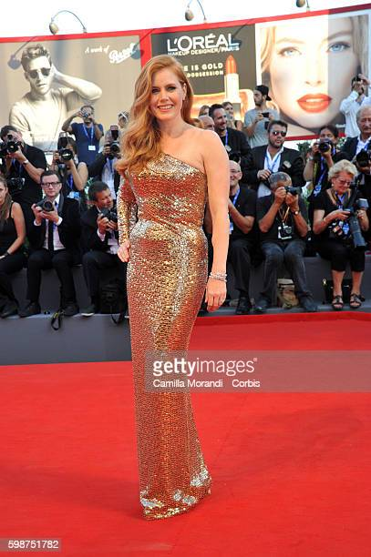 """Amy Adams attends """"Nocturnal Animals' Premiere during the 73rd Venice Film Festival at on September 2, 2016 in Venice, Italy."""
