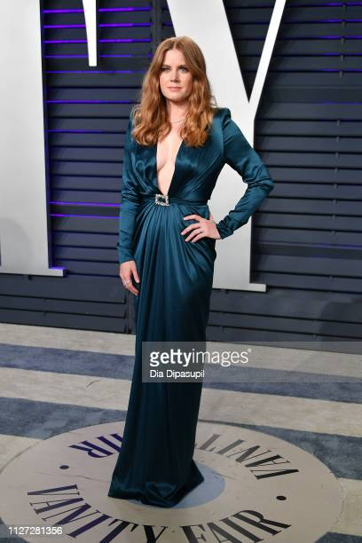Amy Adams attends the 2019 Vanity Fair Oscar Party hosted by Radhika Jones at Wallis Annenberg Center for the Performing Arts on February 24, 2019 in...