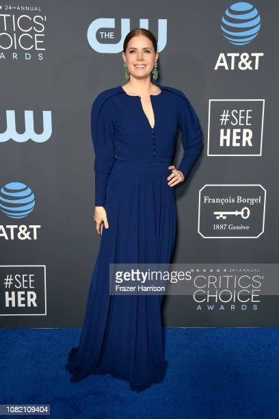 Amy Adams attends the 24th annual Critics' Choice Awards at Barker Hangar on January 13 2019 in Santa Monica California