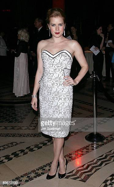 Amy Adams attends the 24th Annual Museum of the Moving Image's salute to Ben Stiller at Cipriani on 42nd Street on November 12 2008 in New York City