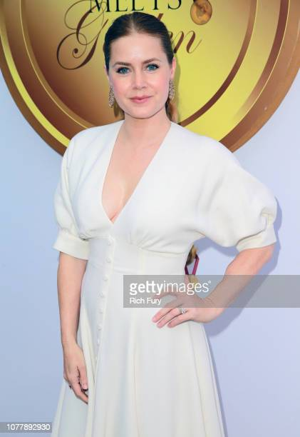 Amy Adams attends the 6th annual Gold Meets Golden party hosted by Nicole Kidman and Nadia Comaneci at The House on Sunset on January 5 2019 in...