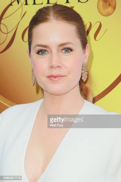 Amy Adams attends the 6th annual Gold Meets Golden party hosted by Nicole Kidman and Nadia Comaneci at The House on Sunset on January 05 2019 in...