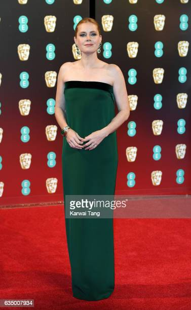 Amy Adams attends the 70th EE British Academy Film Awards at the Royal Albert Hall on February 12 2017 in London England