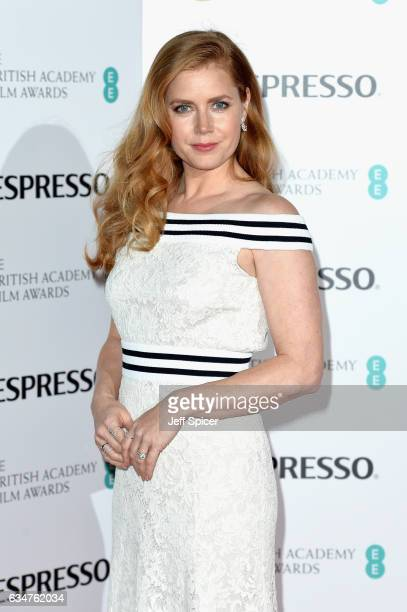 Amy Adams attends the BAFTA nominees party at Kensington Palace on February 11 2017 in London United Kingdom