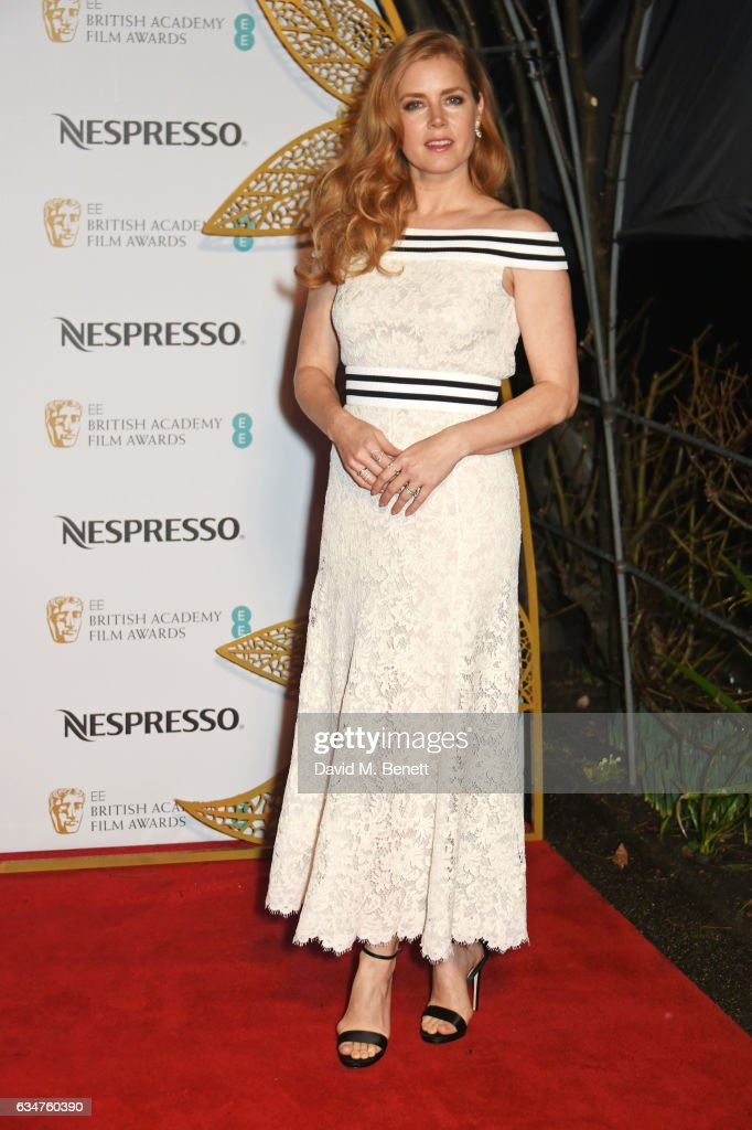 Amy Adams attends the BAFTA nominees party hosted by Nespresso at Kensington Palace on February 11, 2017 in London, England.
