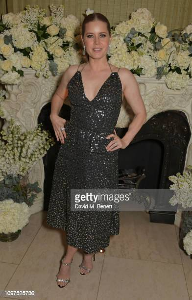 Amy Adams attends the British Vogue and Tiffany & Co. Celebrate Fashion and Film Party at Annabel's on February 10, 2019 in London, England.