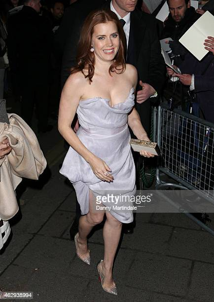 Amy Adams attends the Charles Finch CHANEL PreBAFTA party at Annabel's on February 7 2015 in London England