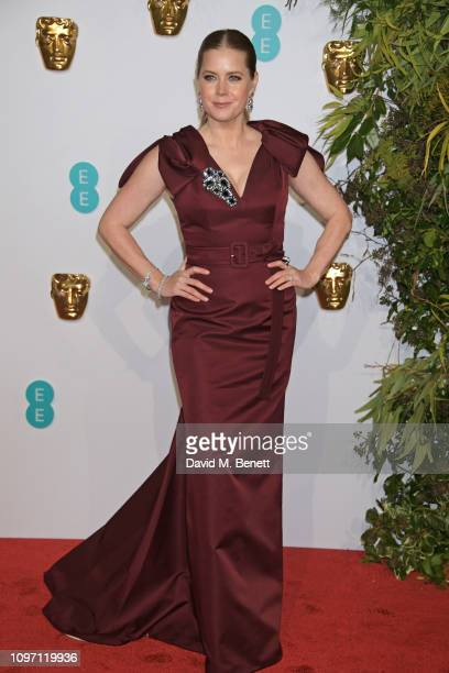 Amy Adams attends the EE British Academy Film Awards at Royal Albert Hall on February 10, 2019 in London, England.