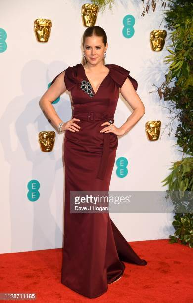 Amy Adams attends the EE British Academy Film Awards at Royal Albert Hall on February 10 2019 in London England