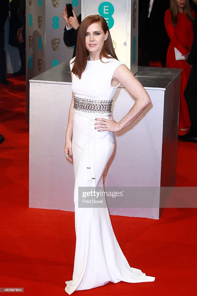 Amy Adams attends the EE British Academy Film Awards at The Royal Opera House on February 8, 2015 in London, England.