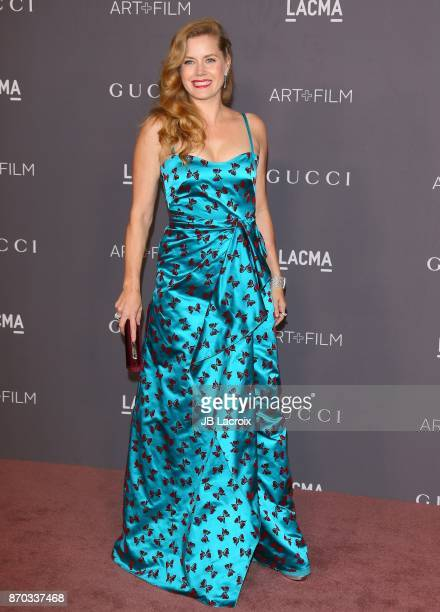 Amy Adams attends the LACMA Art + Film Gala honoring Mark Bradford and George Lucas on November 04, 2017 in Los Angeles, California.