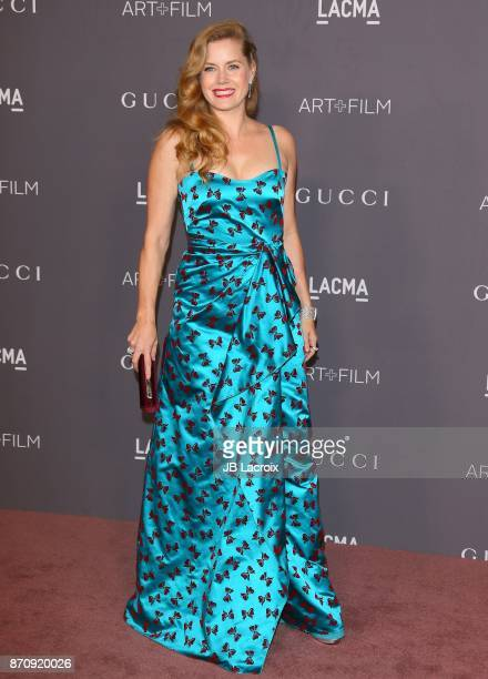 Amy Adams attends the LACMA Art Film Gala honoring Mark Bradford and George Lucas on November 04 2017 in Los Angeles California