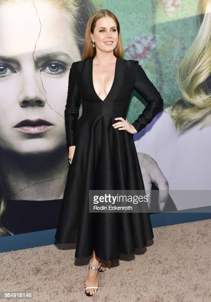 Amy Adams attends the Los Angeles premiere of the HBO limited series Sharp Objects at ArcLight Cinemas Cinerama Dome on June 26 2018 in Hollywood...