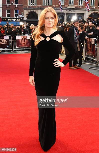Amy Adams attends the 'Nocturnal Animals' Headline Gala screening during the 60th BFI London Film Festival at Odeon Leicester Square on October 14...