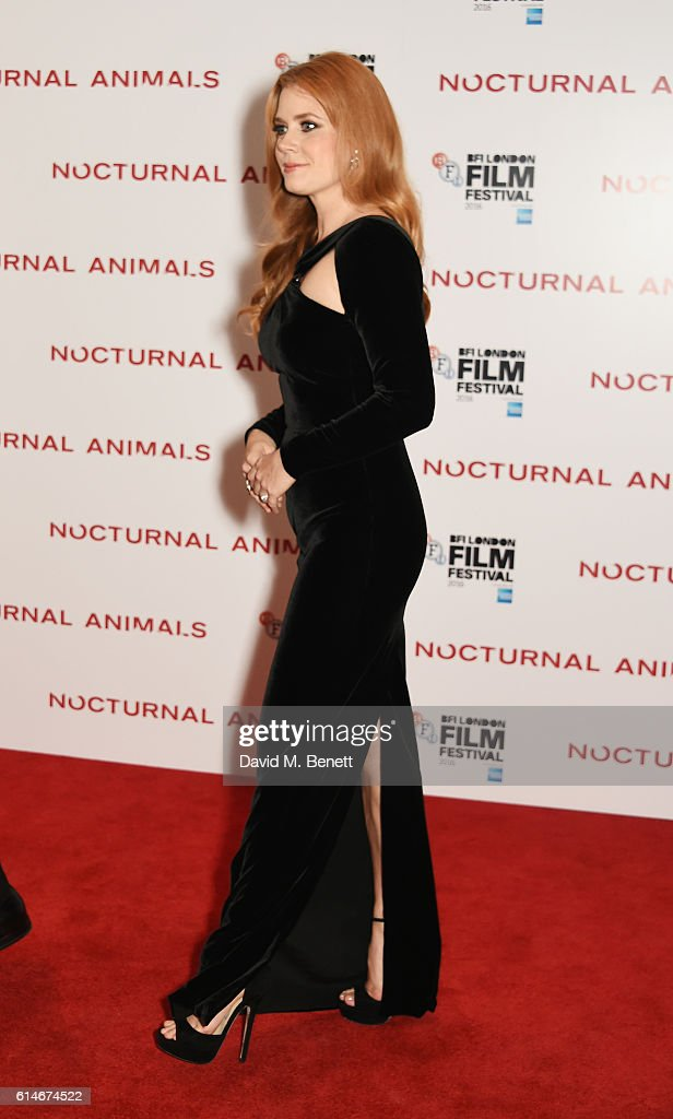 Amy Adams attends the 'Nocturnal Animals' Headline Gala screening during the 60th BFI London Film Festival at Odeon Leicester Square on October 14, 2016 in London, England.