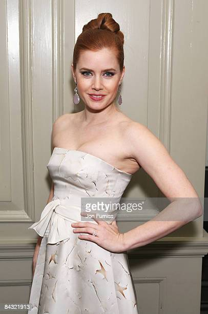 Amy Adams attends the pre film drinks for 'Doubt' at Brown's Hotel on January 16 2009 in London England