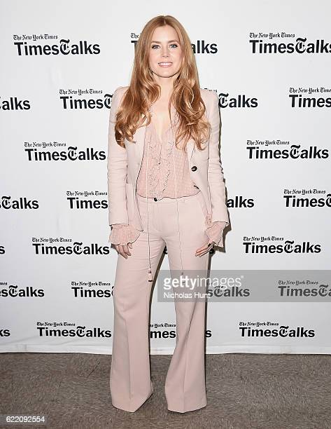Amy Adams attends TimesTalks to discuss 'Arrival' at Merkin Concert Hall on November 9 2016 in New York City