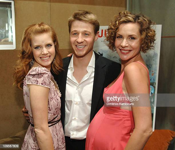 Amy Adams Ben McKenzie and Embeth Davidtz during Junebug New York City Premiere After Party at Suede in New York City New York United States