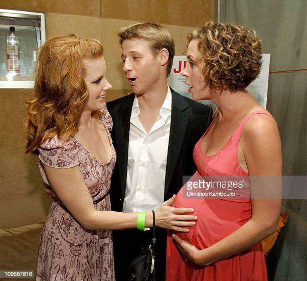 Amy Adams Ben McKenzie and Embeth Davidtz during 'Junebug' New York City Premiere After Party at Suede in New York City New York United States